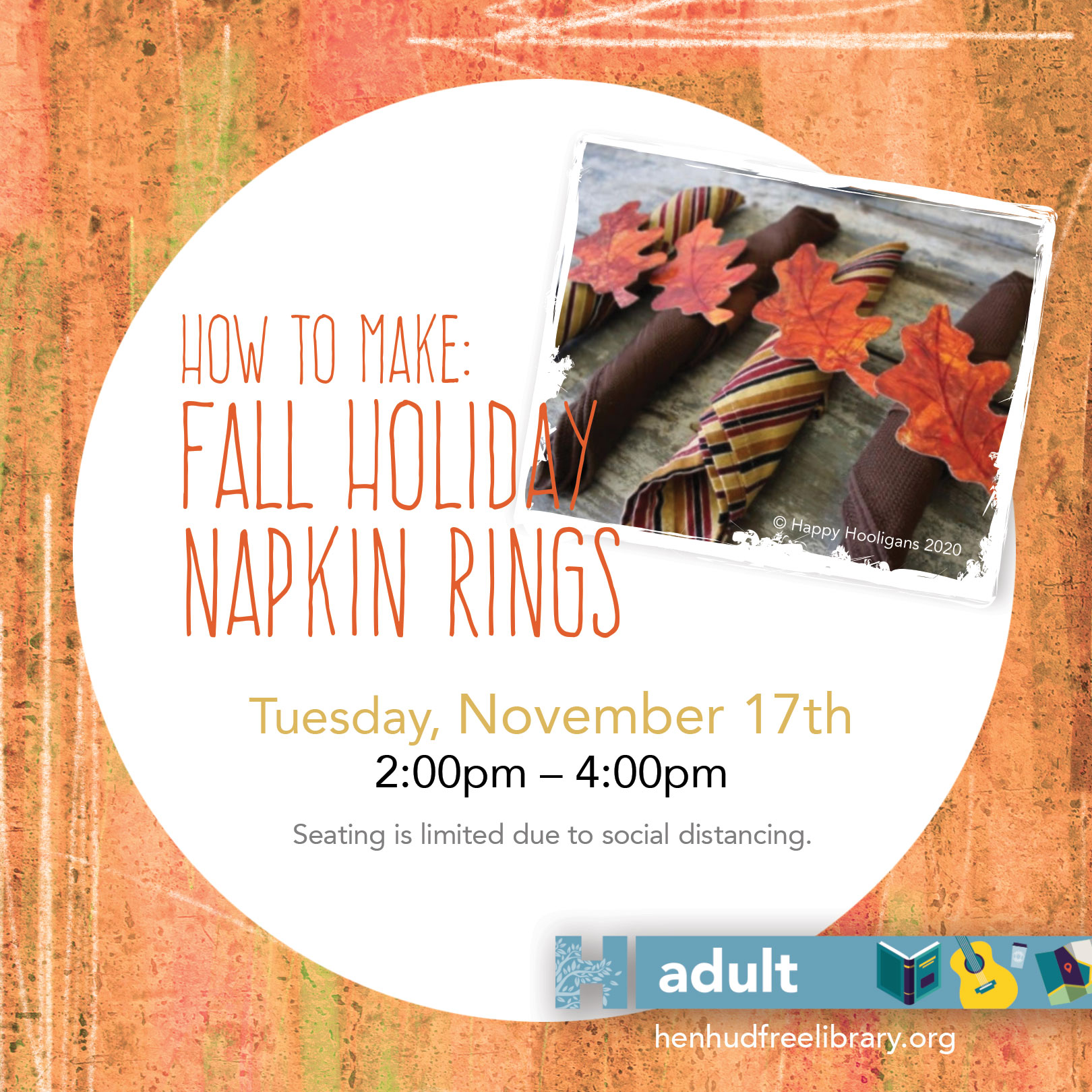 Fall Holiday Napkin Rings Welcome To The Hendrick Hudson Free Library